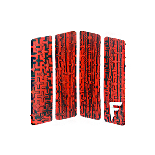 [스킴보드]Freak Traction Front Foot Traction Pad - Quatro Acid Red(웨이크서핑)