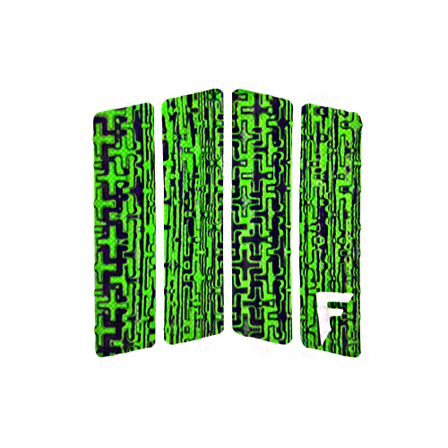 [스킴보드]Freak Traction Front Foot Traction Pad - Quatro Acid Green(웨이크서핑)