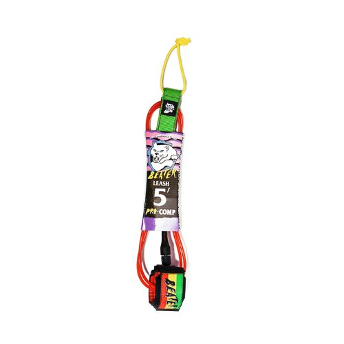 Beater 5' Pro-Comp Leash - Rasta
